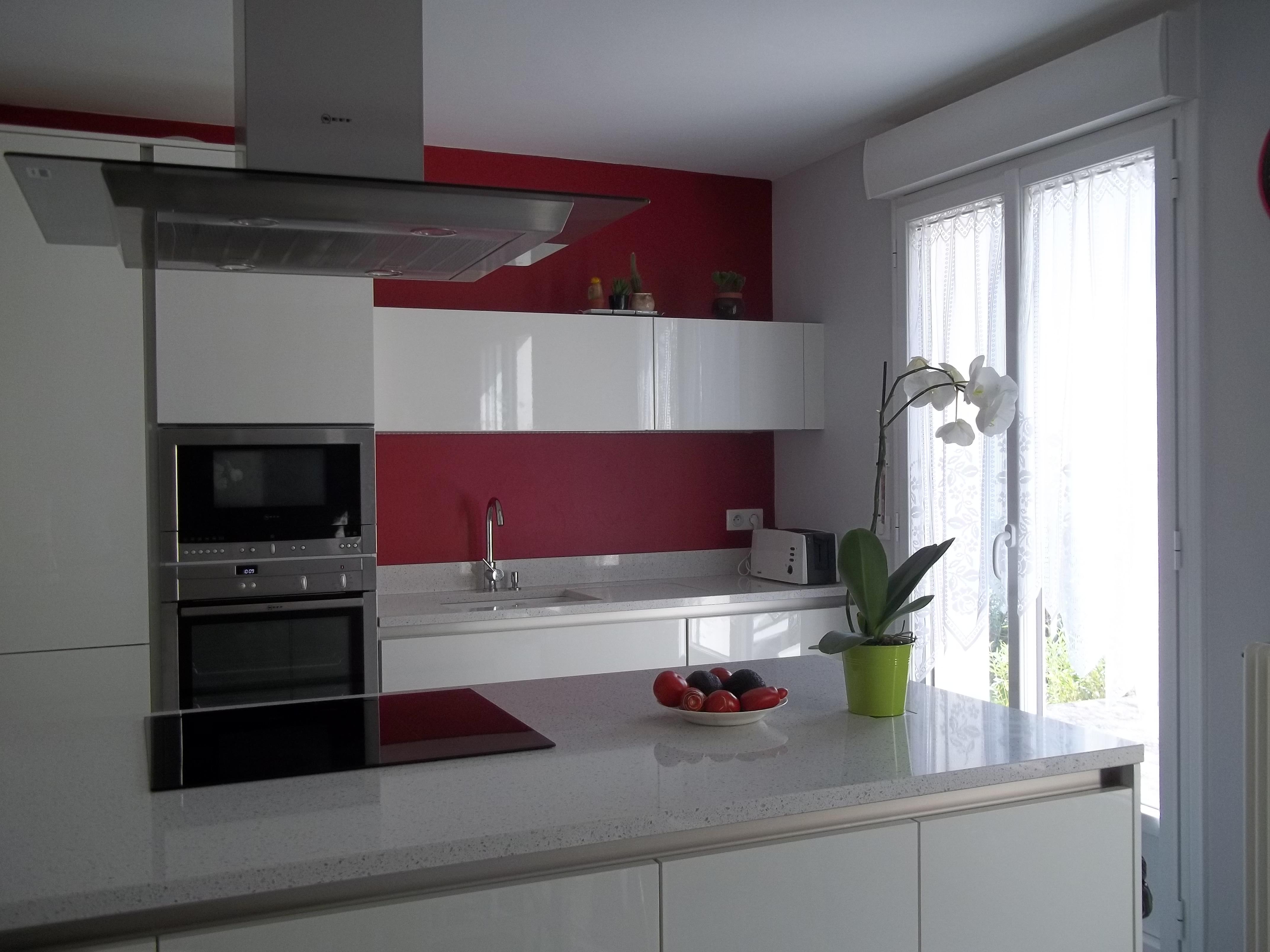 quelle couleur peinture pour cuisine avec meubles blancs