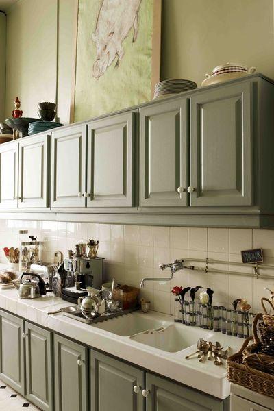 meuble de cuisine vert olive tout sur la cuisine et le mobilier cuisine. Black Bedroom Furniture Sets. Home Design Ideas