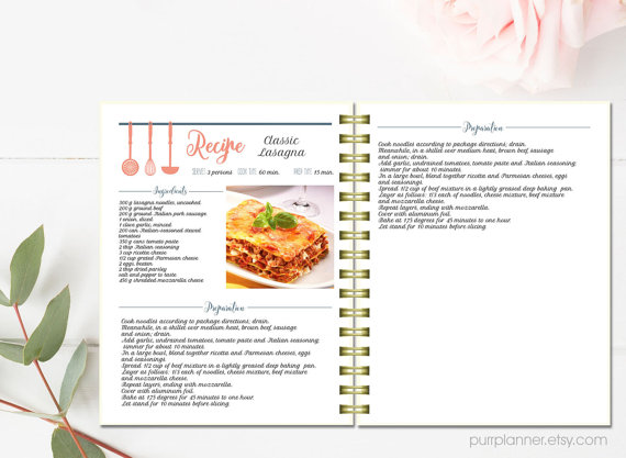 Modèle De Fiche De Cuisine Vierge Tout Sur La Cuisine Et