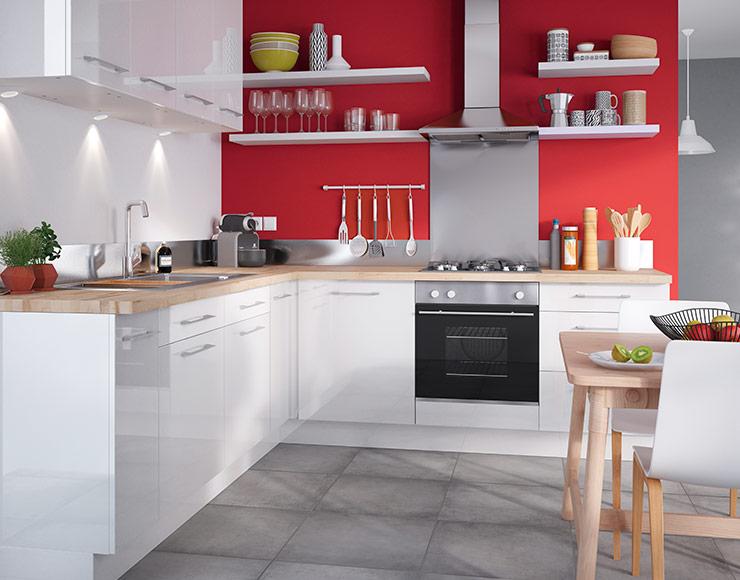 meuble blanc de cuisine