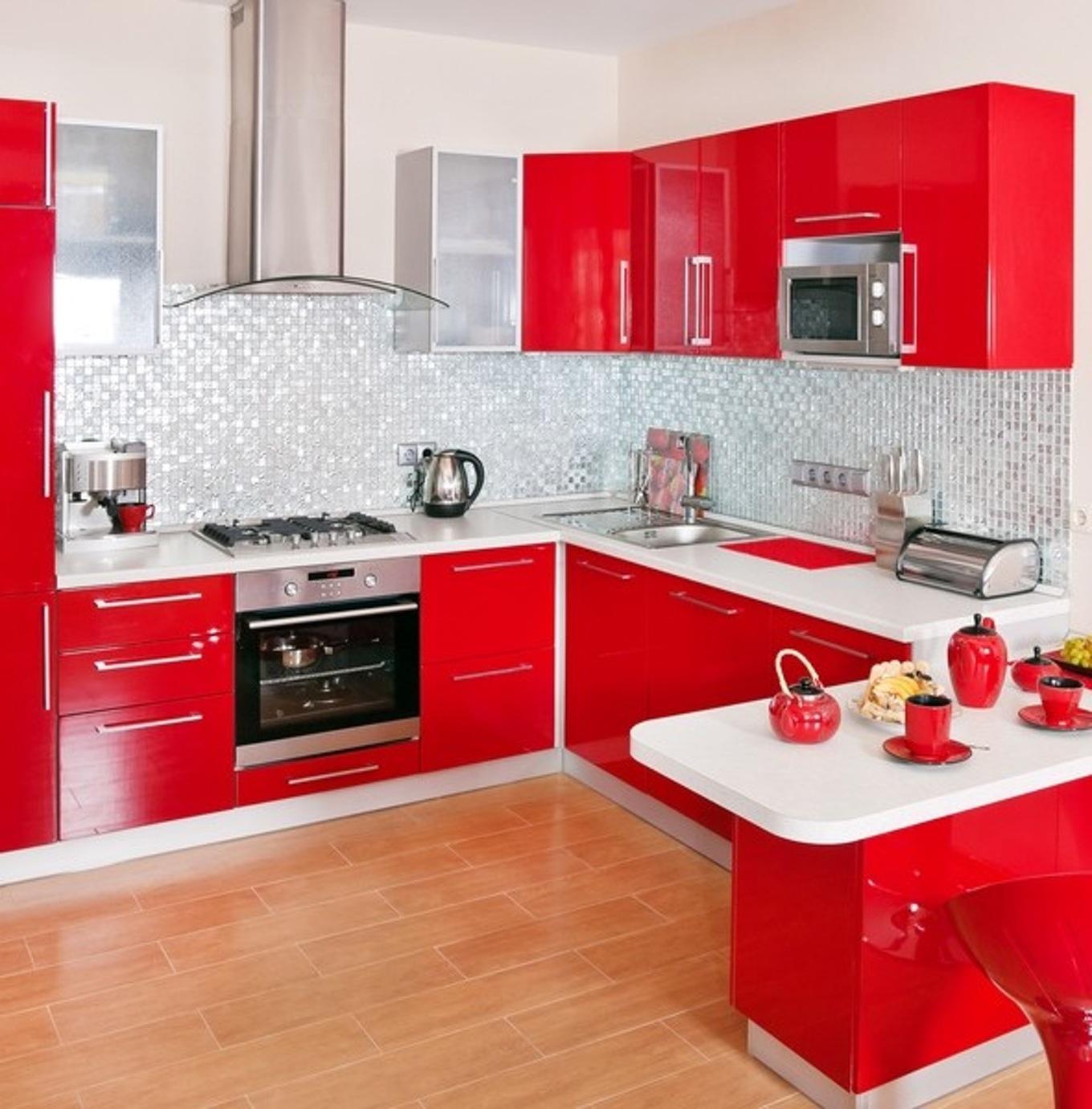 Photo de cuisine rouge et noir - Tout sur la cuisine et le mobilier ...