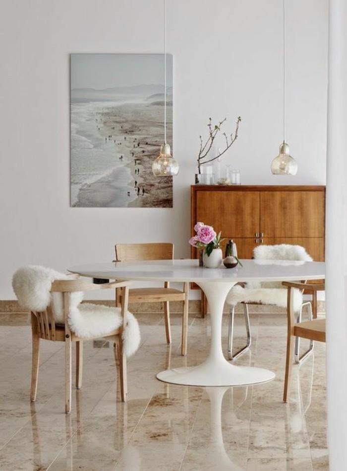 Table De Cuisine Ronde En Bois Blanc Tout Sur La Cuisine
