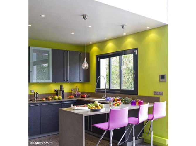 meuble de cuisine vert et gris