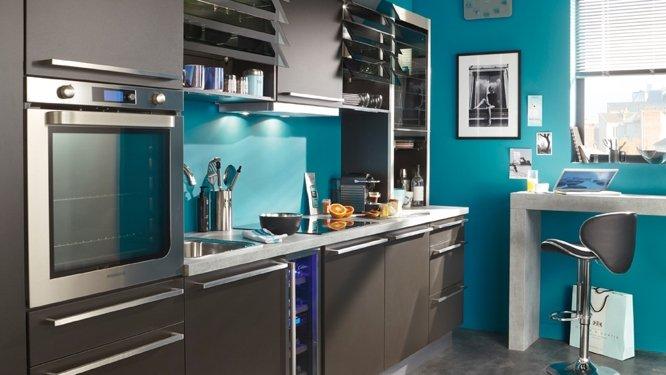 Deco cuisine gris blanc noir - Tout sur la cuisine et le mobilier ...