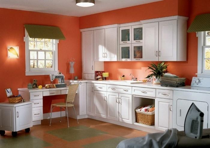 Peinture Pour Cuisine Orange Tout Sur La Cuisine Et Le Mobilier