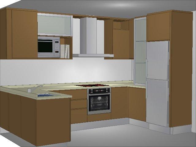 Plan cuisine 3d tout sur la cuisine et le mobilier cuisine - Plan 3d cuisine ...