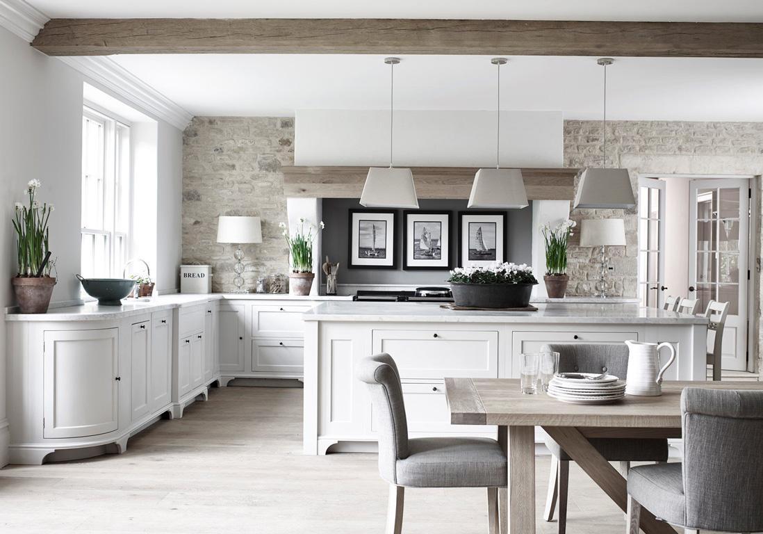 Modele cuisine blanc classique