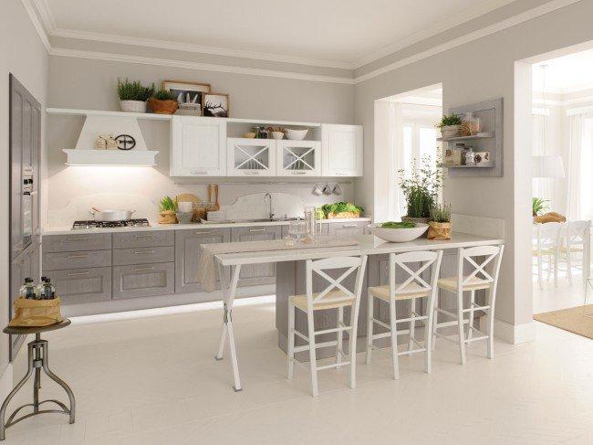 table de cuisine grise et blanche - Cuisine Grise Et Blanc