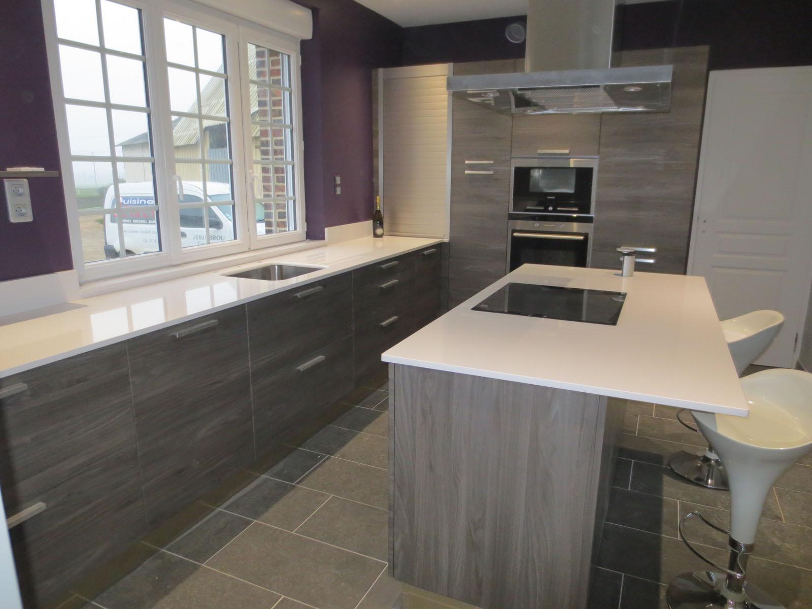 Modele de cuisine en bois gris - Tout sur la cuisine et le ...