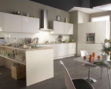 Modele de cuisine blanc laque - Tout sur la cuisine et le mobilier ...