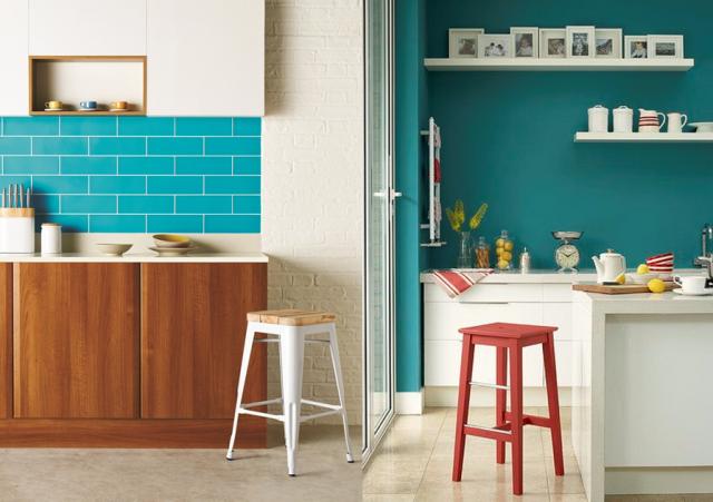 Deco pour cuisine bleu - Tout sur la cuisine et le mobilier ...