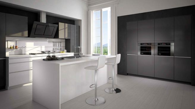 Photo cuisine gris et blanc - Tout sur la cuisine et le ...