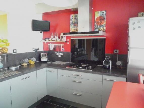 Deco cuisine gris blanc rouge - Tout sur la cuisine et le mobilier ...