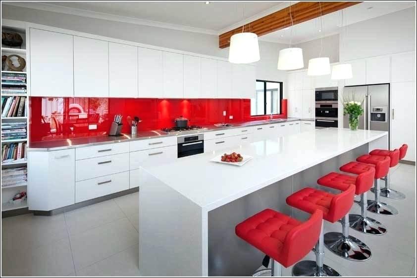 Deco cuisine rouge et blanc tout sur la cuisine et le mobilier cuisine - Decoration cuisine moderne rouge et blanc ...