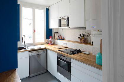 Photo cuisine blanche et bois - Tout sur la cuisine et le mobilier ...