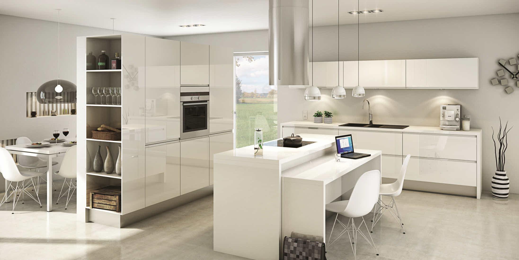 Modele de cuisine moderne blanche tout sur la cuisine et - Deco cuisine moderne blanc ...
