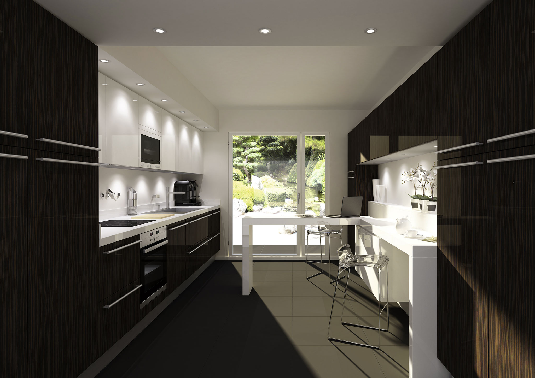 photos cuisine blanc et noire