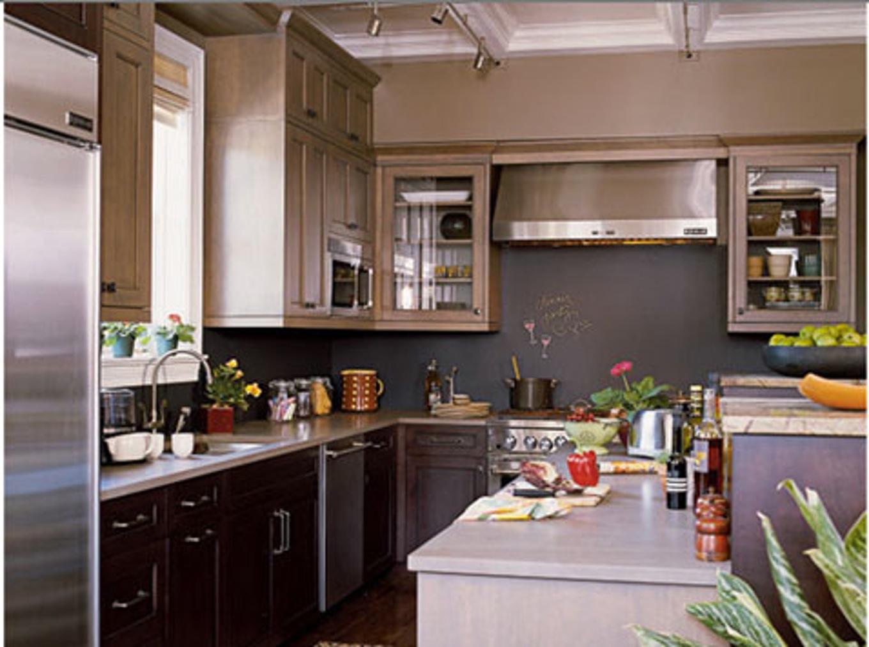 Couleur peinture cuisine gris clair tout sur la cuisine - Cuisine bois gris clair ...