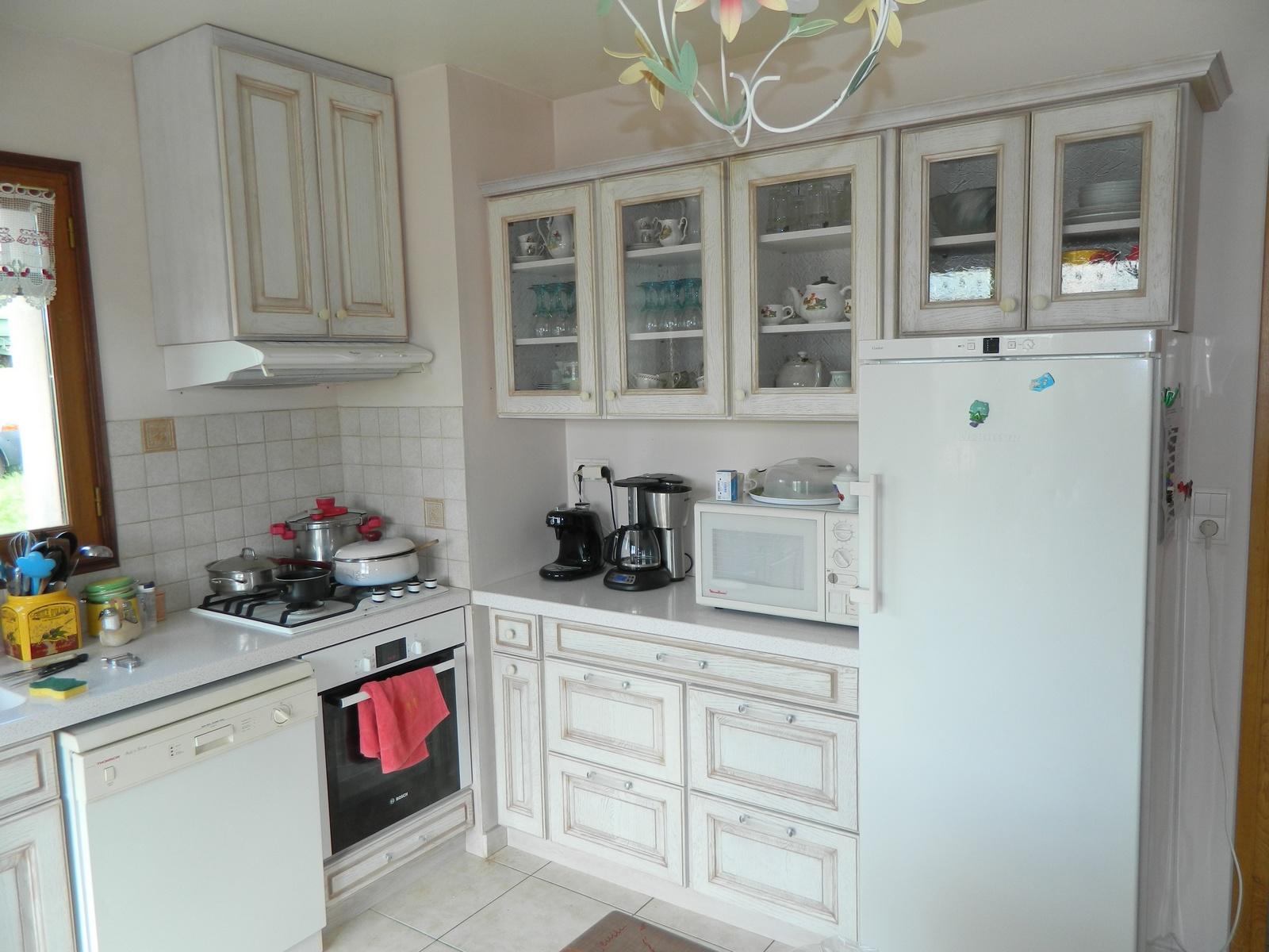 Meuble de cuisine bois blanc tout sur la cuisine et le mobilier cuisine - Cuisine blanc ceruse ...