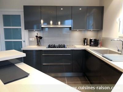 Photo cuisine grise anthracite - Tout sur la cuisine et le mobilier ...