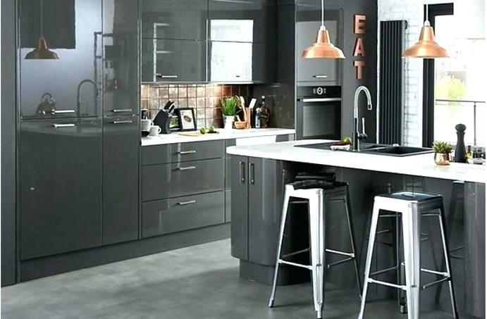 Photo cuisine gris fonce tout sur la cuisine et le mobilier cuisine - Cuisine gris fonce ...