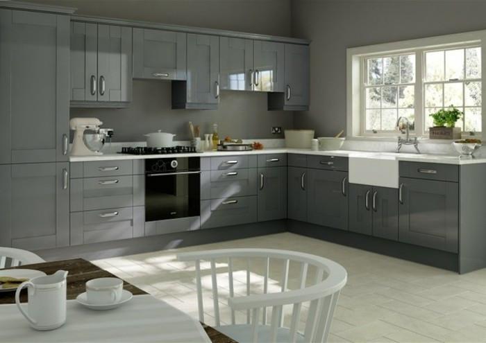 Modele cuisine gris rouge - Tout sur la cuisine et le mobilier cuisine