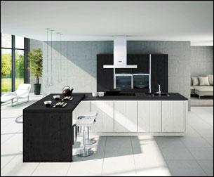 Photo cuisine blanc et noir - Tout sur la cuisine et le mobilier cuisine