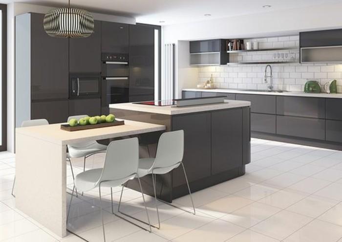 Meuble de cuisine gris anthracite - Tout sur la cuisine et le ...