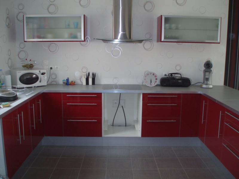 Meuble haut cuisine ikea rouge