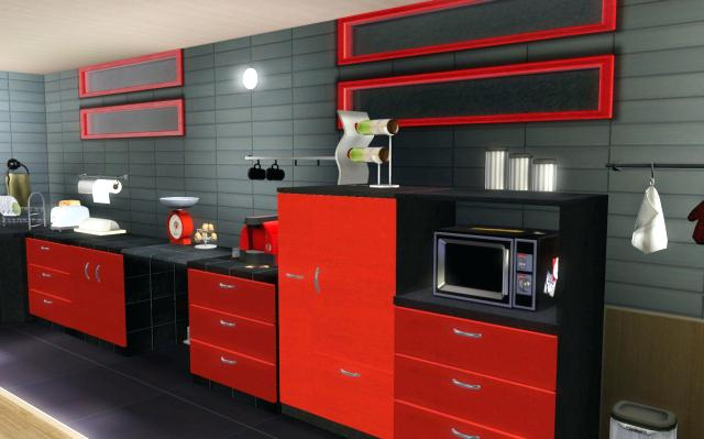 photo cuisine noire et rouge tout sur la cuisine et le mobilier cuisine. Black Bedroom Furniture Sets. Home Design Ideas