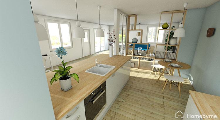 cuisine semi ouverte sur salon photos tout sur la cuisine et le mobilier cuisine. Black Bedroom Furniture Sets. Home Design Ideas