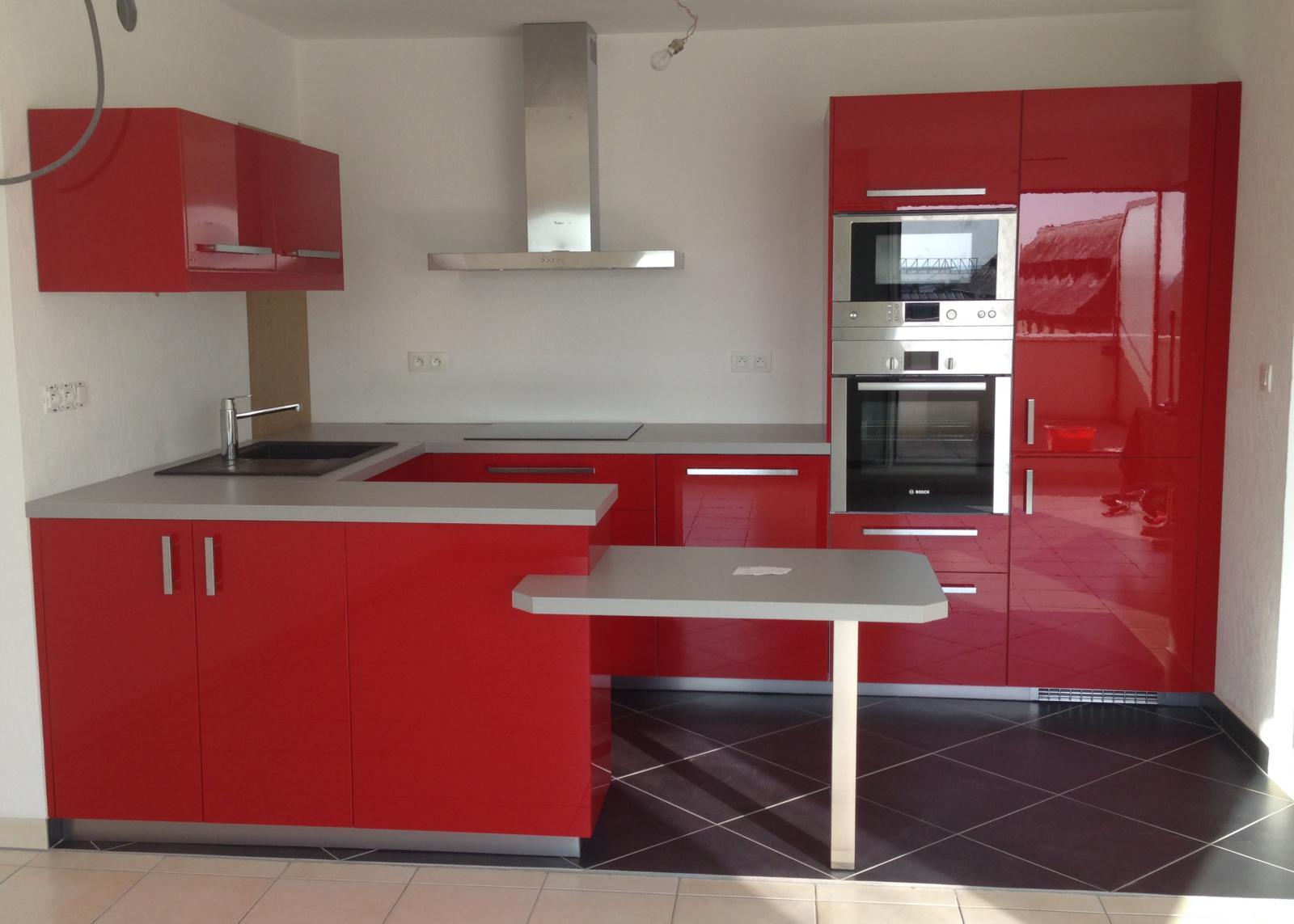 Porte de cuisine rouge laqué ikea