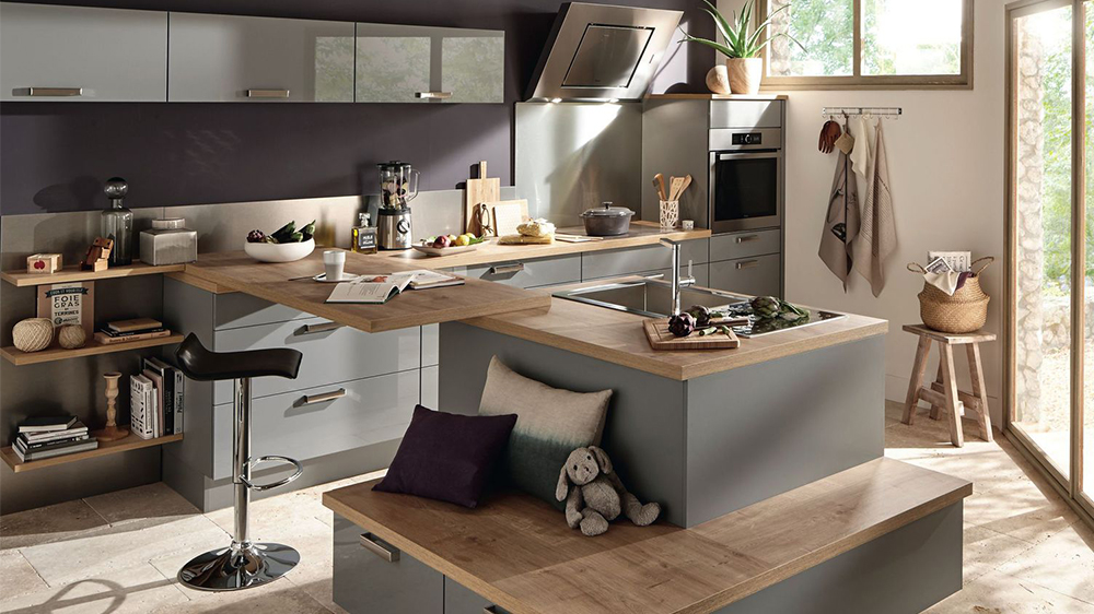 Photo cuisine ouverte salon